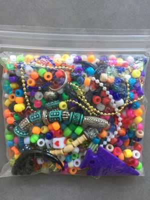 Assorted beads for crafts - 7oz