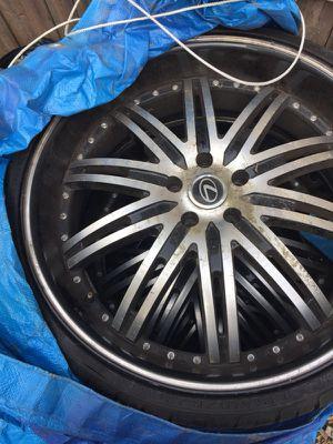 22 inch KMC Dimes 98 Lexus GS 300