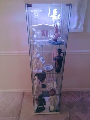 Coaster Home Furnishings Glass Curio Cabinet w/ Aftermarket Color Changing LED Light