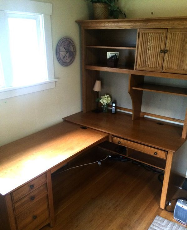 large desk with hutch storage furniture in auburn wa On furniture auburn wa