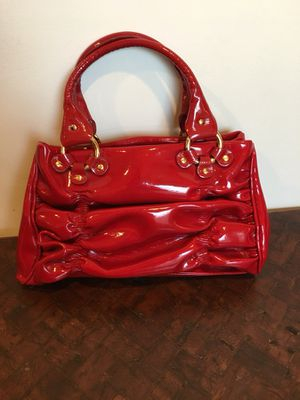Red Desmo Patent Leather Handbag