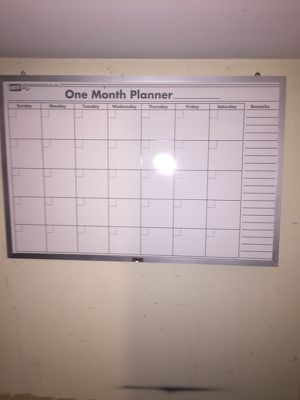 Dry/Erase Wall Hanging Monthly Planner Board