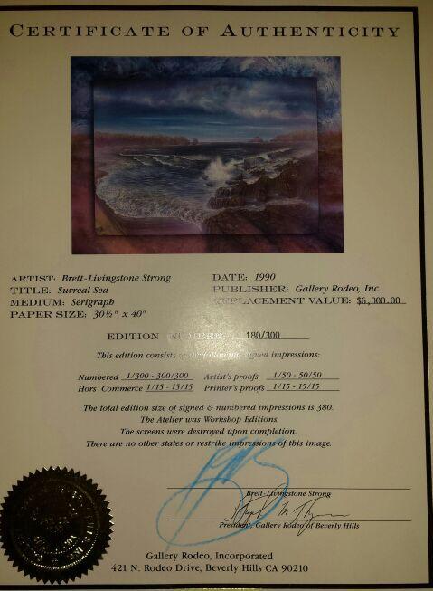Brett Livingstone Strong limited edition serigraph.