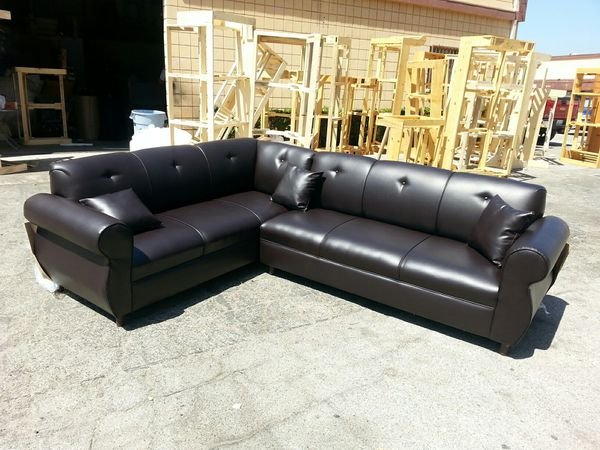 NEW BROWN LEATHER SECTIONAL COUCHES Furniture in West Covina CA