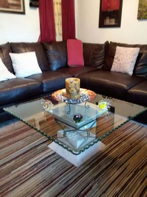 Glass table design on thed edge for only $99.00 or best offer