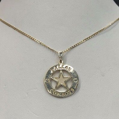 Dallas cowboys pendant and necklace jewelry accessories in dallas cowboys pendant and necklace aloadofball