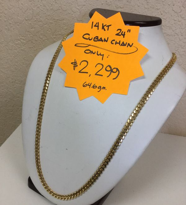 14kt Cuban Gold Chain 24""