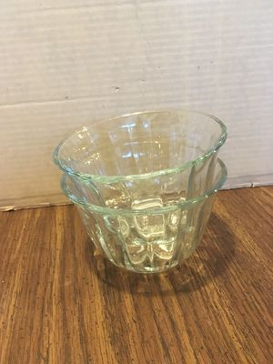 Two small cut glass bowls