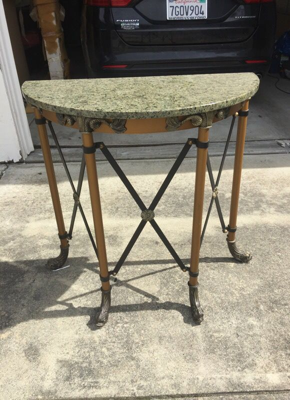 Metal Hall Table hall table - granite top brass metal base ( furniture ) in san