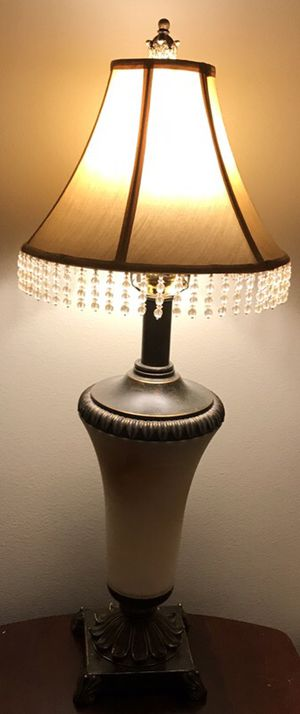 Beautiful lamp will go with any decor/ moving out sell. Price dropped