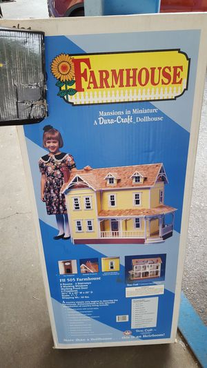 NEW IN BOX! DURA-CRAFT FARMHOUSE, FH 505 MANSIONS IN MINIATURE RARE COLLECTIBLE