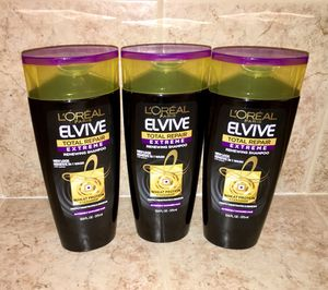 3 Bottles of L'Oreal Total Repair Extreme Shampoo
