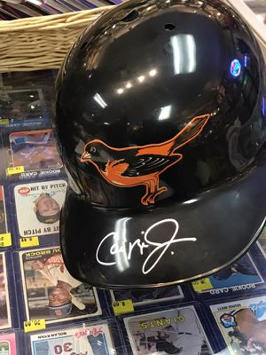 Official Baltimore O's MLB Batting Helmet Autographed by Cal Ripken, Jr., Comes with COA