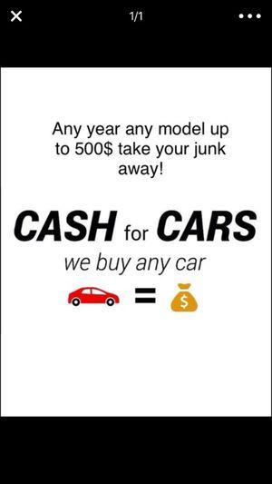 We buy unwanted cars