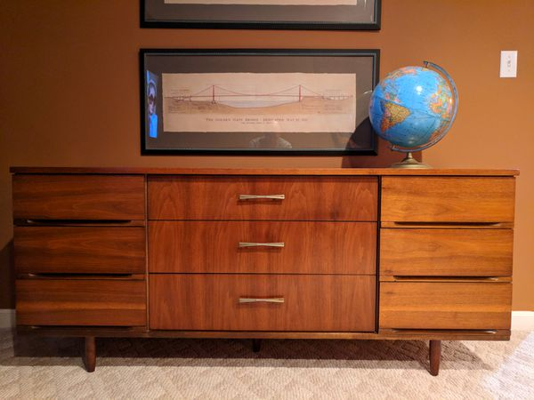 Mid Century Modern Dresser Harmony House Media Center (Furniture ...