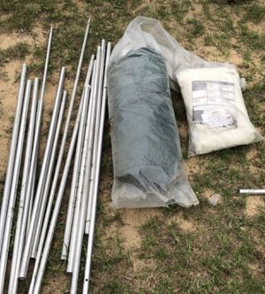 White Metal Tent Poles and Tents