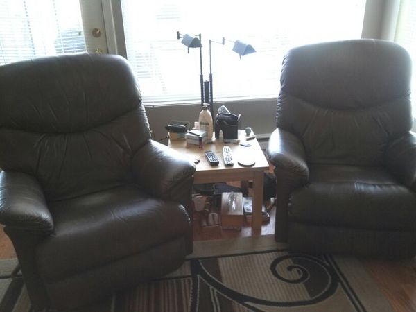 lazy boy leather rocking recliners furniture in kent wa offerup