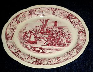 Antique THANKSGIVING Platter from 1950s