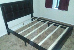 Brand New Queen Size Leather Platform Bed Frame (White Available)