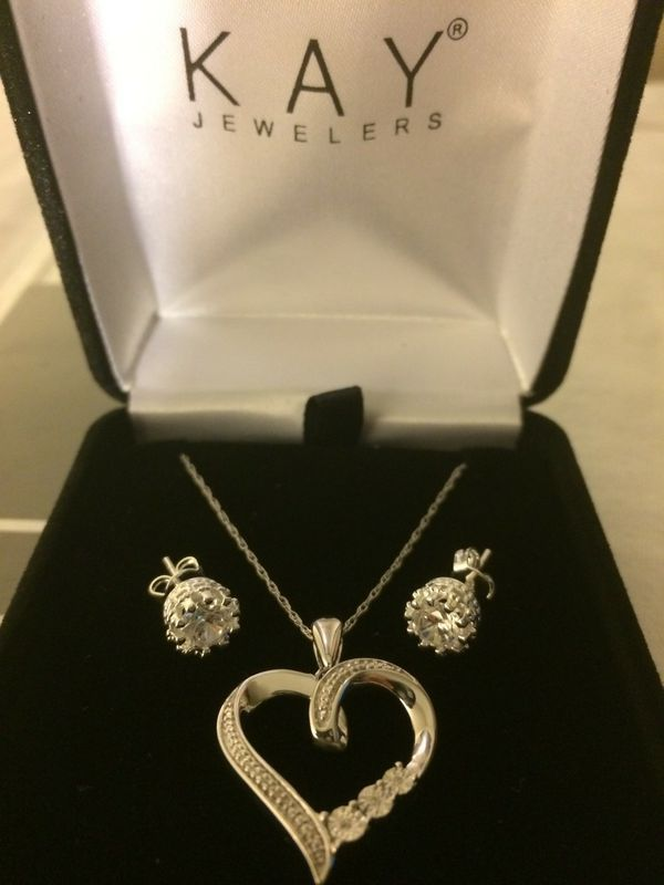 Mothers Day Sale Kay Jewelers Diamond Necklace plus Earrings Zales