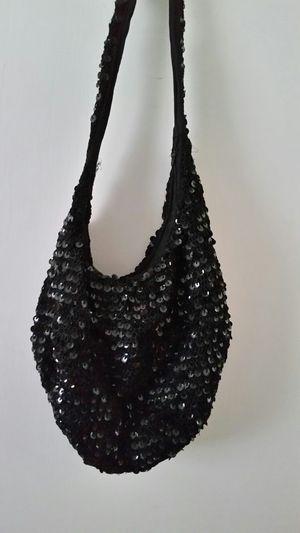 Black sequin purse