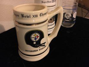 1978 Pittsburgh Steelers super bowl Xlll champions ceramic mug Stein
