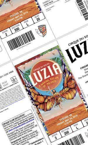3 Tickets to Luzia, Cirque Du Soleil, $75.00