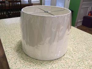White lamp shade - new