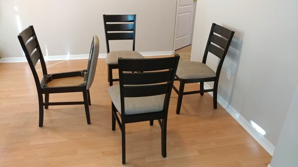 4 Wood Dining Chairs With Under Seat Storage Furniture In