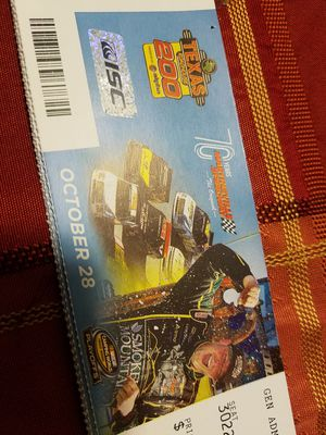 4 tickets to the truck race in Martinsville speedway