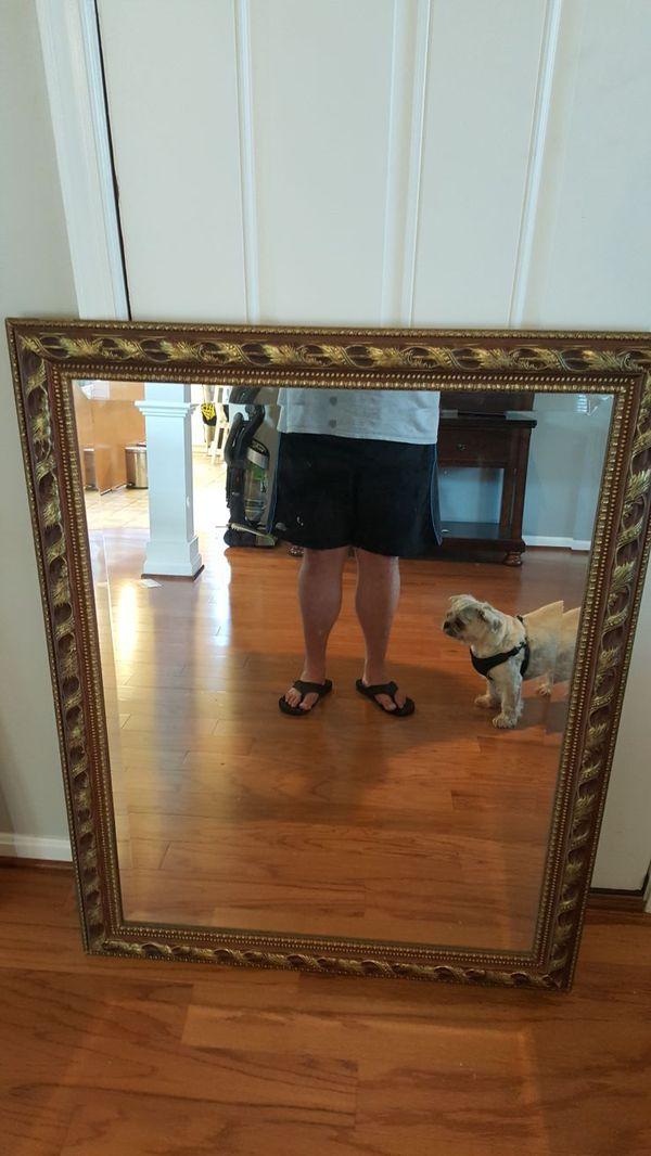 Beautiful, heavy, aged mirror 46 x 36
