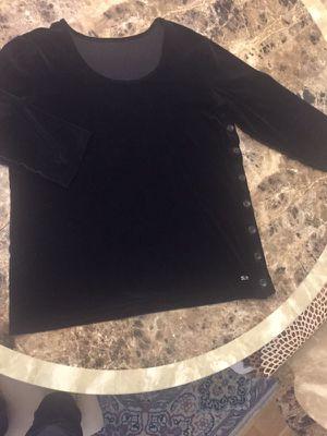 Velvet black shirt size 12