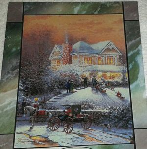 Thomas Kinkade Stained Glass Christmas Decoration