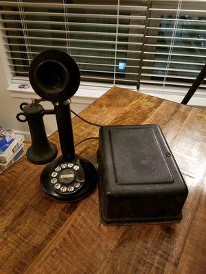 Antique Candlestick Telephone Ringer Box