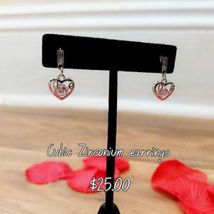 "Cubic Zirconium ""Love"" earrings"