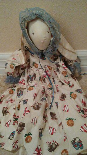 Christmas themed vintage bunny