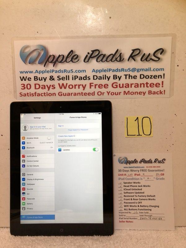 L10 - iPad 4 32GB