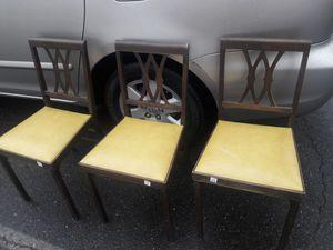 3 Leg-O-Matic Vintage Folding Chairs