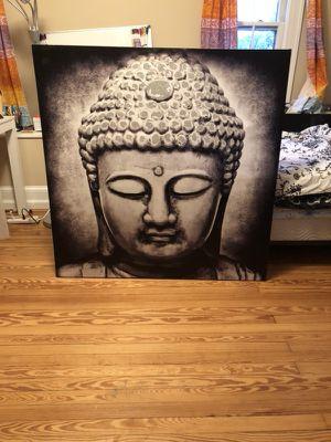 Extra Large Grayscale Buddha Painting