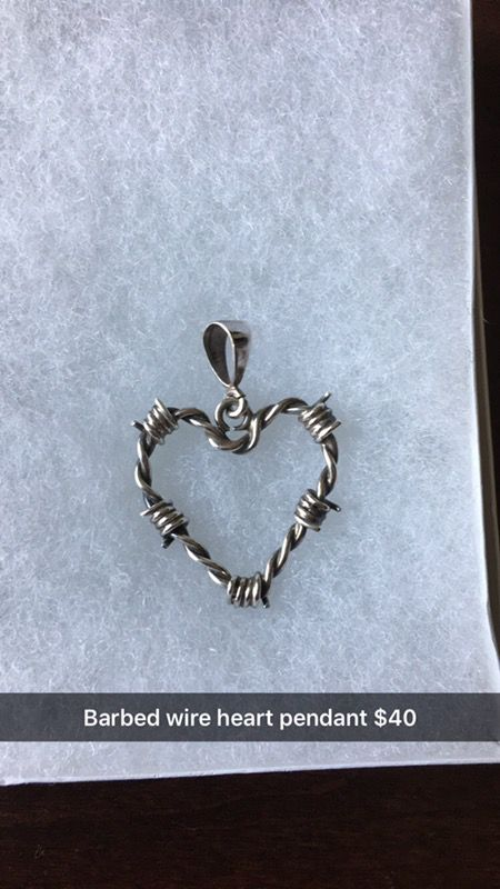 Barbed wire heart pendant (Jewelry & Accessories) in College Station ...