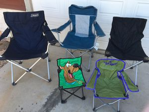 (5) camping chairs for sale in Glendale