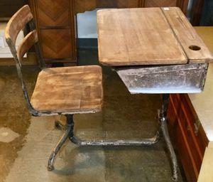 Vintage children's school desk