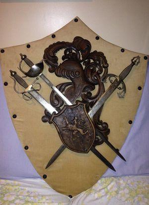 Mancave decor steel swords
