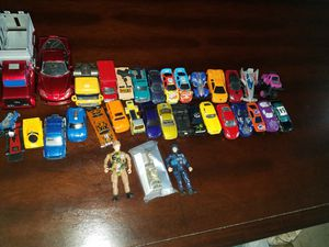 Lot of play cars and trucks
