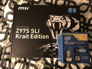 Intel i7 4790k+Z97 motherboard+16gb RAM