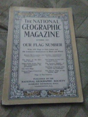 National. Geographic. 1917 vintage