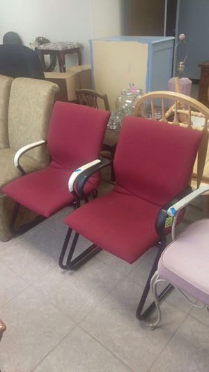 Two office reception chairs-visit. RANDYIFEELUSED.com for info!