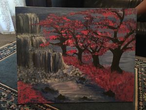 Waterfall/Blossom Painting