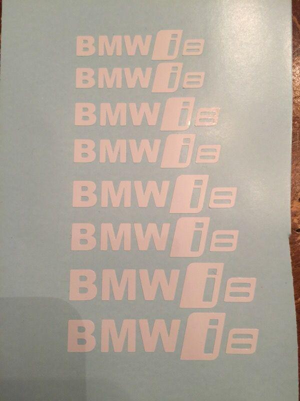 Pc Set BMW I Custom Brake Caliper Vinyl Decal Sticker Logo Cars - Custom vinyl decals las vegas