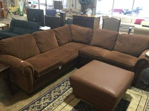 Brown sectional couch